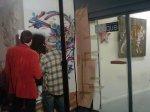 Mosko et Anis pour la performance à la Galerie Oblique