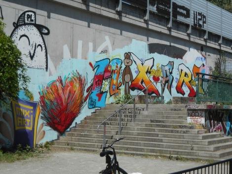 Fresque Mix'art réalisée avec les élèves, Berlin, juin 2013